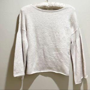 LOU & GREY LOFT Chunky Knit Bell Sleeve Sweater